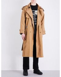 Blood Brother - Cotton-canvas Trench Coat - Lyst