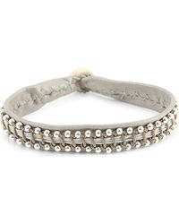 Maria Rudman - Leather And Pewter Bracelet - Lyst