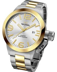 TW Steel Cb31 Canteen Steel And Yellow Gold Watch - Metallic