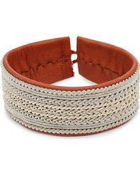 Maria Rudman | Pewter Woven Wide Bracelet | Lyst