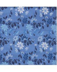 Duchamp | Floral Silk Pocket Square | Lyst