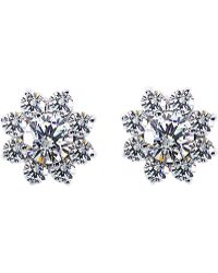 Carat* - Round Cluster Solitaire Studs - Lyst