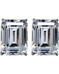 Carat* - Emerald 1.5ct Solitaire Stud Earrings - Lyst