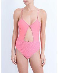 Maje Massa Cutout Swimsuit - Pink