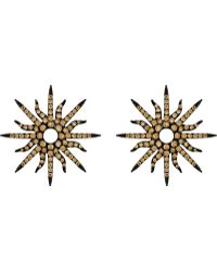 Christina Debs - Sunshine 18ct Pink-gold And Diamond Earrings - Lyst