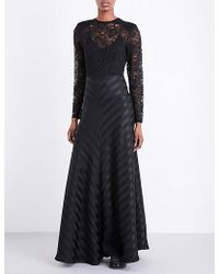Ganni Kendal Silk And Lace Gown - Black