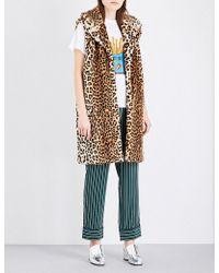 Ganni Ferris Faux-fur Gilet - Multicolor