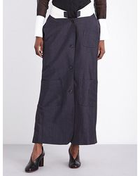 Thom Browne Low-rise Wool And Mohair-blend Skirt - Grey