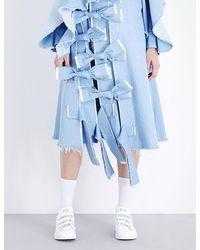 Fyodor Golan - Tie-detail Denim Skirt - Lyst