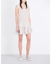 The Kooples Sport - Ruffled Floral Crepe Dress - Lyst