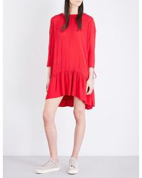 The Kooples Sport - Lace-up Crepe Dress - Lyst