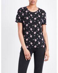 The Kooples Sport - Floral-print Jersey T-shirt - Lyst