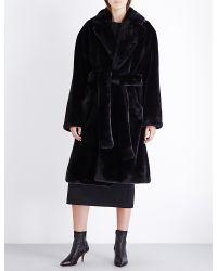 Wanda Nylon Ben Faux-fur Coat - Black