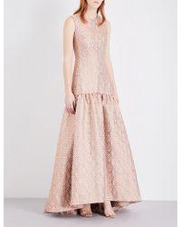Max Mara Elegante Gabriel Jacquard Gown - Pink