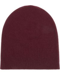 Johnstons - Reversible Cashmere Beanie - Lyst