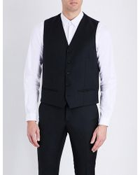 The Kooples Satin-back Wool Waistcoat - Black