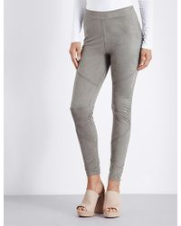 HOT!MESS - Skinny High-rise Suedette Leggings - Lyst