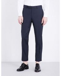 The Kooples - Pinstriped Slim-fit Tapered Wool Trousers - Lyst