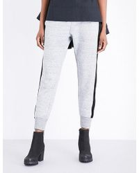 Izzue - Velour-trimmed Cotton-blend Jogging Bottoms - Lyst