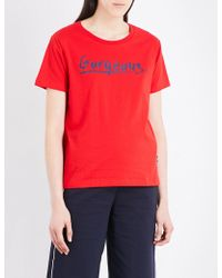 Izzue - Gorgeous Cotton-jersey T-shirt - Lyst