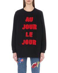 Au Jour Le Jour - Sequin-embellished Cotton-jersey Sweatshirt - Lyst