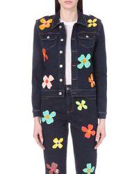 Au Jour Le Jour - Sequin-embellished Denim Jacket - Lyst
