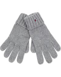 Tommy Hilfiger Knitted Cotton-cashmere Gloves - Gray