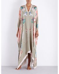 Meng - Floral-print Silk-georgette Cover Dress - Lyst