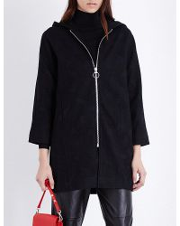 Mo&co. - Hooded Jacquard Coat - Lyst