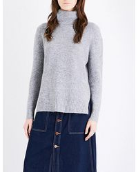 Mo&co. - Oversized Knitted Turtleneck Jumper - Lyst