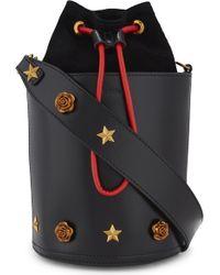 Mo&co. - Embellished Leather Bucket Bag - Lyst