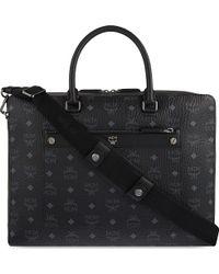 MCM Markus Visetos Leather Briefcase - Black