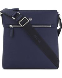 MCM - Otto Small Leather Messenger Bag - Lyst