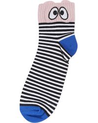Mini Cream | Eyes And Stripes Socks | Lyst