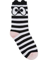 Mini Cream | Eyes & Stripes Cotton Socks | Lyst