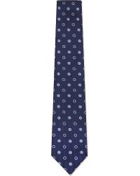 Turnbull & Asser - Contrast Spotted Silk Tie - Lyst