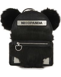 Nicopanda - Faux Fur Backpack - Lyst