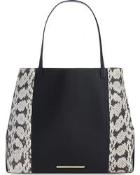 Roland Mouret - Classic Snake-mix Leather Tote - Lyst