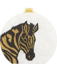 Edie Parker Oscar Zebra Head Clutch - Multicolour