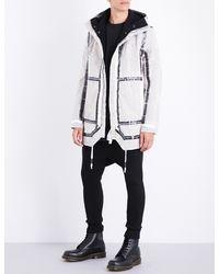 Boris Bidjan Saberi | Taped Seam-detailed Hooded Cotton Coat | Lyst
