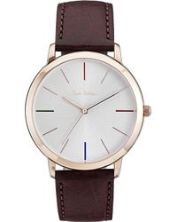 Paul Smith - Mens Brown Water Resistant Luxury Watch - Lyst