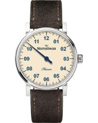 Meistersinger Ph303 Phanero Suede Watch - Metallic