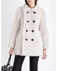 Karl Donoghue   Double-breasted Reversible Shearling Coat   Lyst