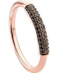 Monica Vinader Stellar 18ct Rose Gold-plated Vermeil And Black Diamond Ring - Metallic