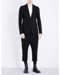 Rick Owens Astaire Cropped Wool-blend Suit - Black