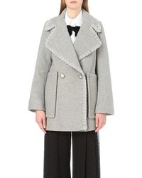 See By Chloé Boxy Wool-blend Coat - Grey