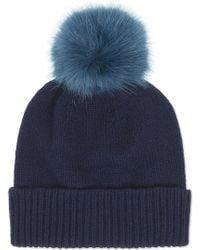 Helen Moore - Pom Pom Cashmere Beanie Hat - Lyst