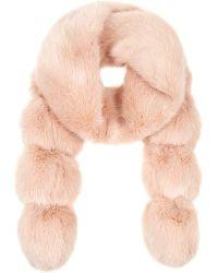 Helen Moore - Pom Pom Faux Fur Scarf - Lyst