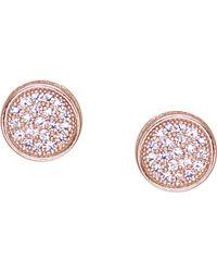 Carat* - Rose Gold-vermeil And Pavé Stud Earrings - Lyst