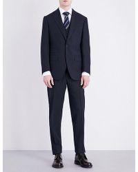 Thom Sweeney Regular-fit Three-piece Wool Suit - Blue